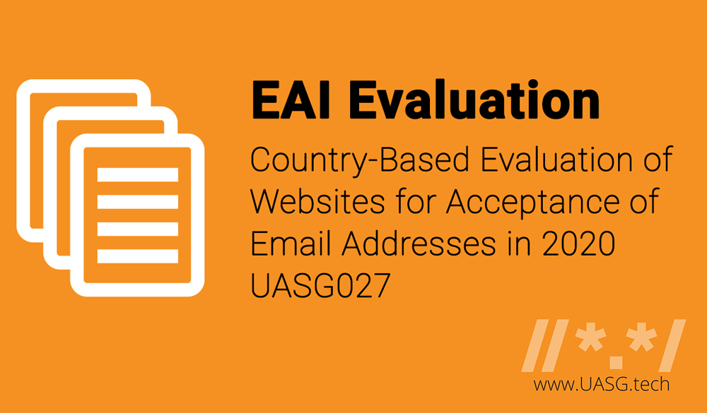 Country Based Evaluation of Websites for Acceptance of Email Addresses in 2020
