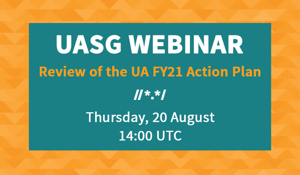 You're Invited to the UA FY21 Action Plan Webinar