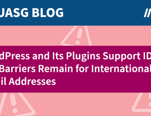 WordPress and Its Plugins Support Internationalized Domain Names, but Barriers Remain for Internationalized Email Addresses